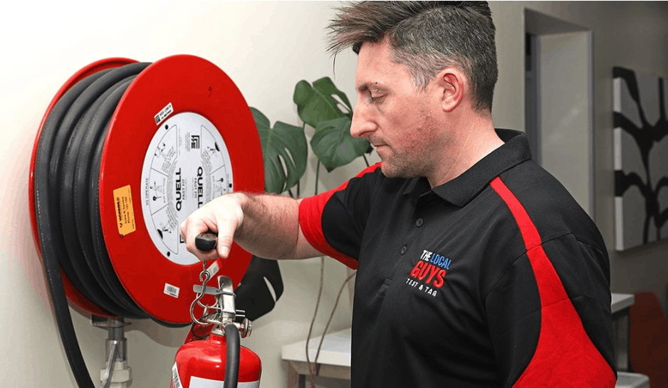 Inspection of fire extinguisher