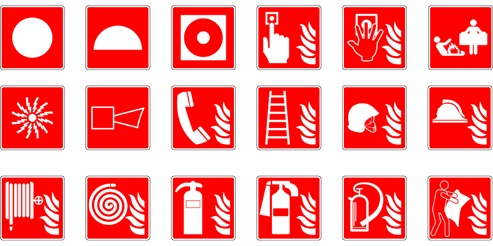 Fire safety symbols