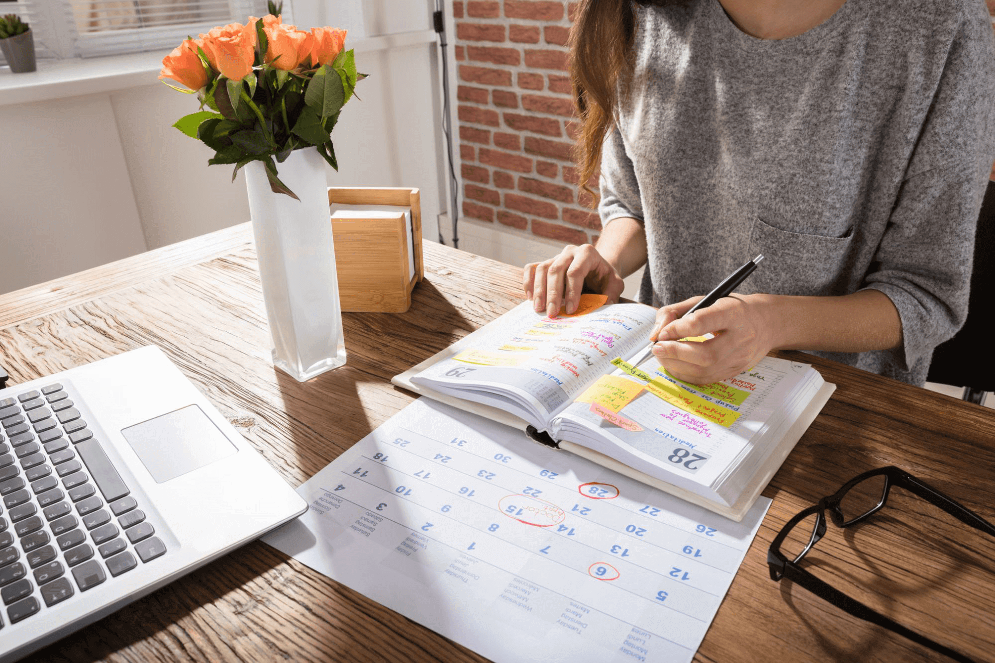 Make a schedule and work